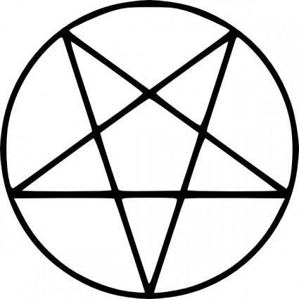free vector Pentagram clip art