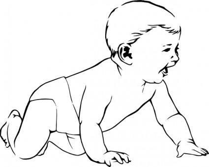 free vector Infant Crawl clip art