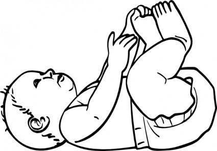 free vector Infant Outline clip art