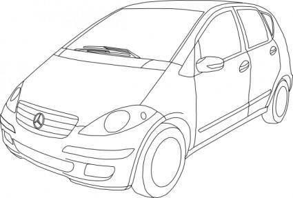 free vector Mercedes Benz Class A Outline clip art