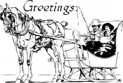 free vector Holiday Greetings clip art