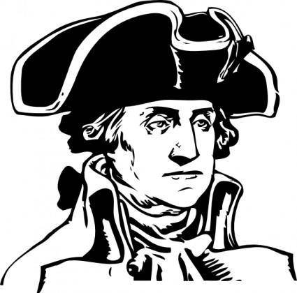 free vector George Washington clip art