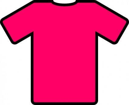 free vector Pink T Shirt clip art