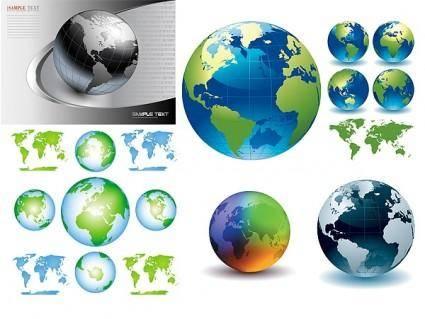free vector Earth crystal style vector