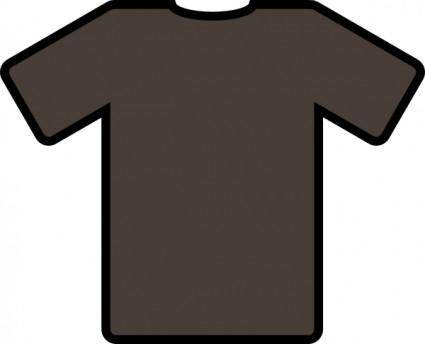 free vector Brown T Shirt clip art