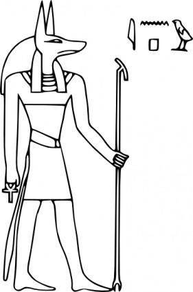 free vector Pharoa God Anubis clip art