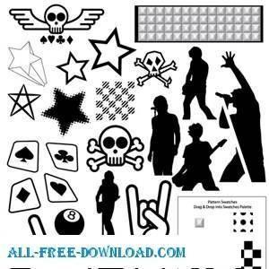 free vector Punk Rock Vector Pack