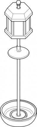 Bird Feeder Pole Outline clip art