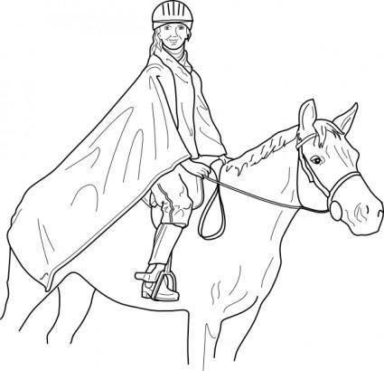 free vector Horse Rider clip art