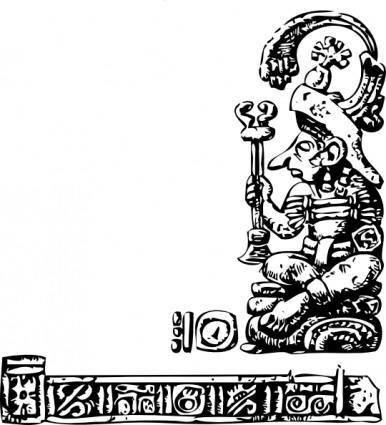 Mayan Relief clip art