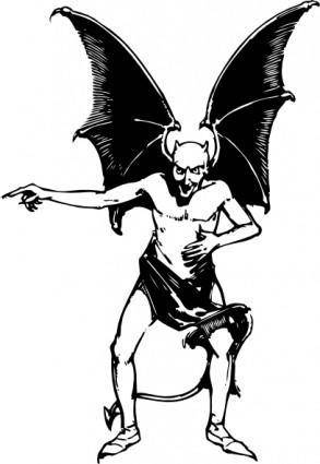 Pointing Devil clip art