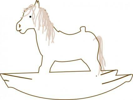free vector Rocking Horse Outline clip art