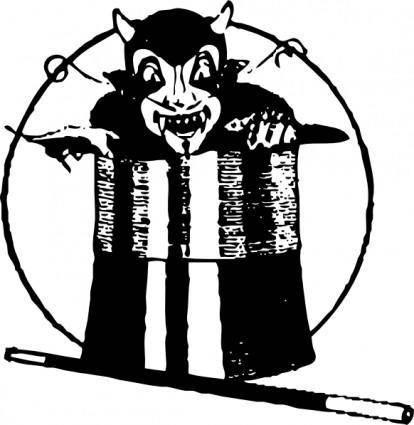 free vector Devil In Top Hat clip art