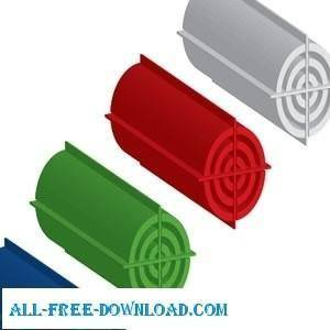free vector 3d Target Tube