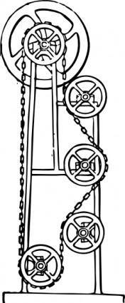 free vector Motor Gears Mechanics clip art