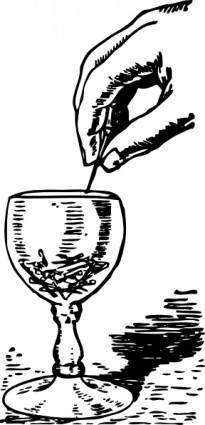 Pins In A Glass clip art