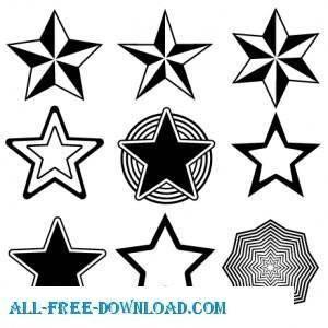 Random Free Vectors Part 13 Stars