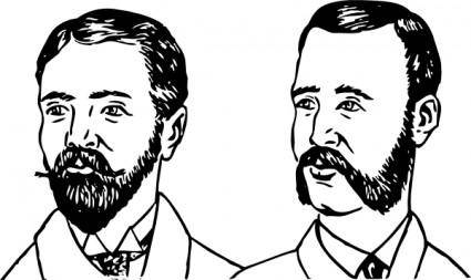 Beards clip art