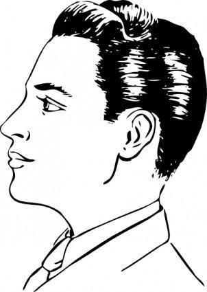 free vector Men Haircut Side View clip art