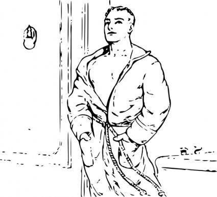 Outline Man In Robe clip art