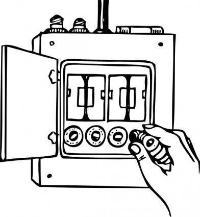 free vector Fuse Box clip art