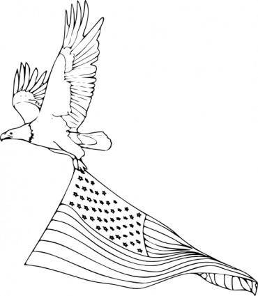 Coloring Book Bald Eagle clip art