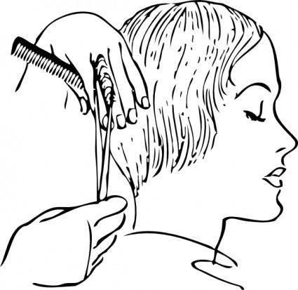 Women S Haircutting clip art