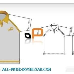 free vector Polo Shirt Template