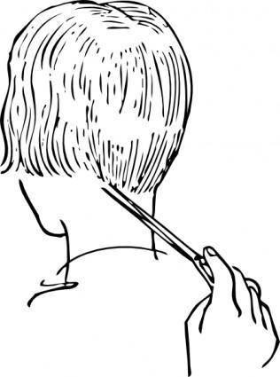 Women Haircutting clip art