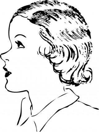Girls Hair Style clip art