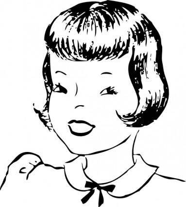 Girls Hair Stlye clip art