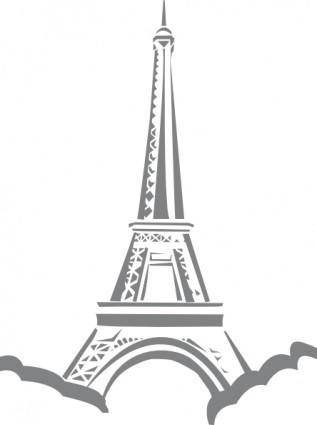 free vector Eiffel Tower Paris clip art