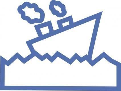 Sailing Motor Ship clip art