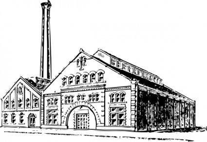Old Factory clip art