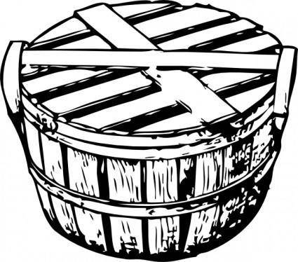 Bushel Basket With Cover clip art