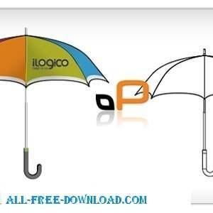 free vector Umbrella Template
