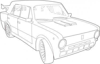 Car Lada Outline clip art