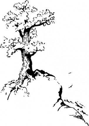 Tree On Top Of Hill clip art