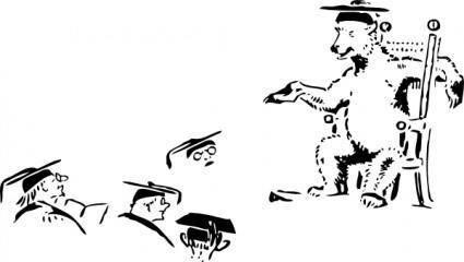 free vector Bear Teacher clip art