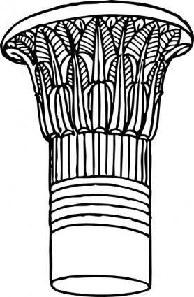 Papyrus Capital clip art