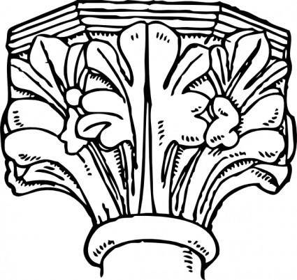 Decorated Gothic Capital clip art