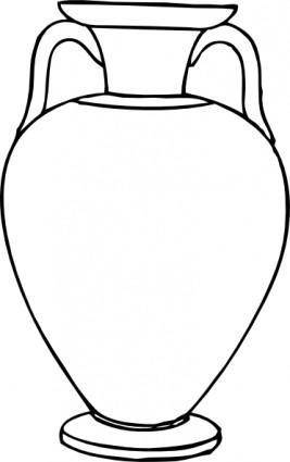 free vector Outline Greek Amphora clip art