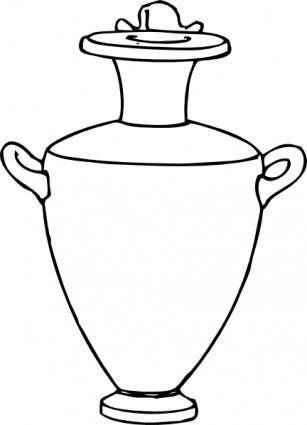 free vector Greek Amphora Pottery clip art