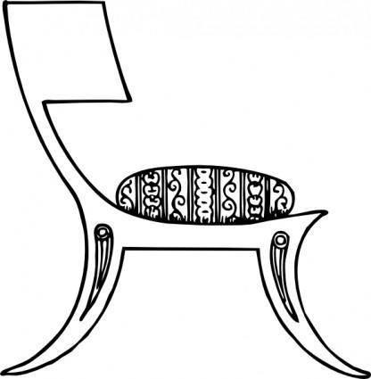 free vector Greek Chair clip art