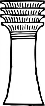Pillar Column Outline clip art