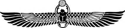 Winged Scarab clip art