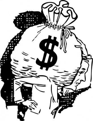 Big Bag Of Money clip art
