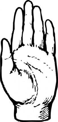 Left Hand clip art