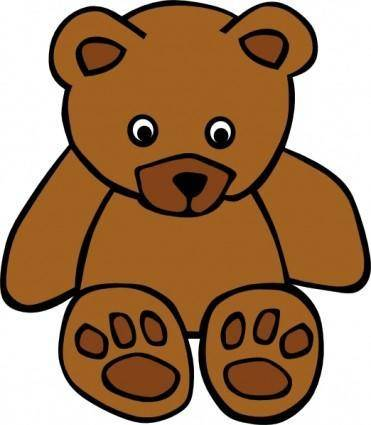 free vector Simple Teddy Bear clip art