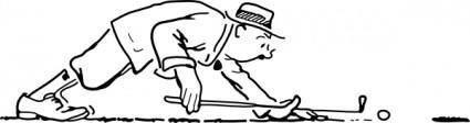 free vector Funny Golfer clip art
